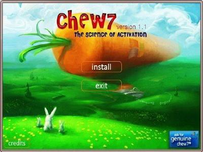 Chew7 1.0 build 0.6.7.3 (2011_eng). Активатор Windows